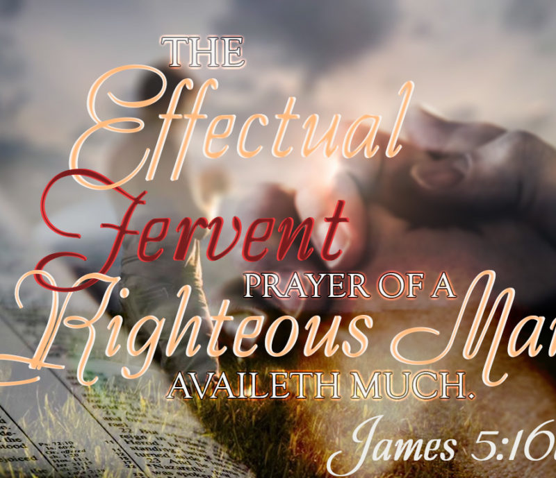The effectual fervent prayer of a righteous man availeth much. James 5:16b